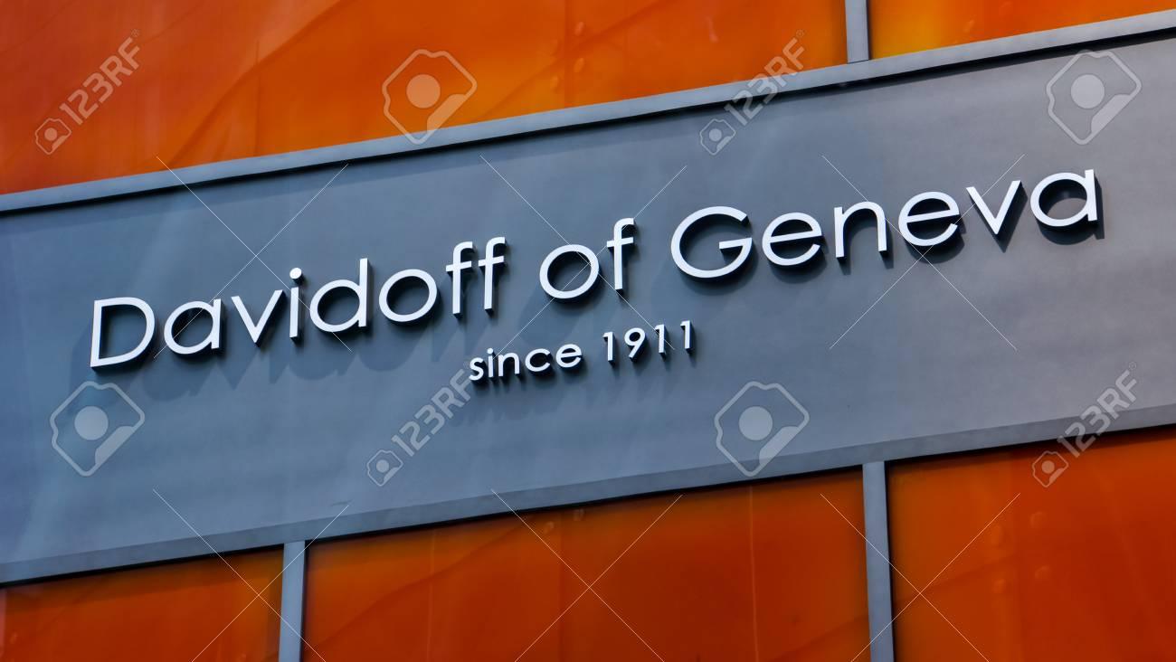 NEW YORK, USA - MAY 2, 2013: Detail of Davidoff of Geneva store