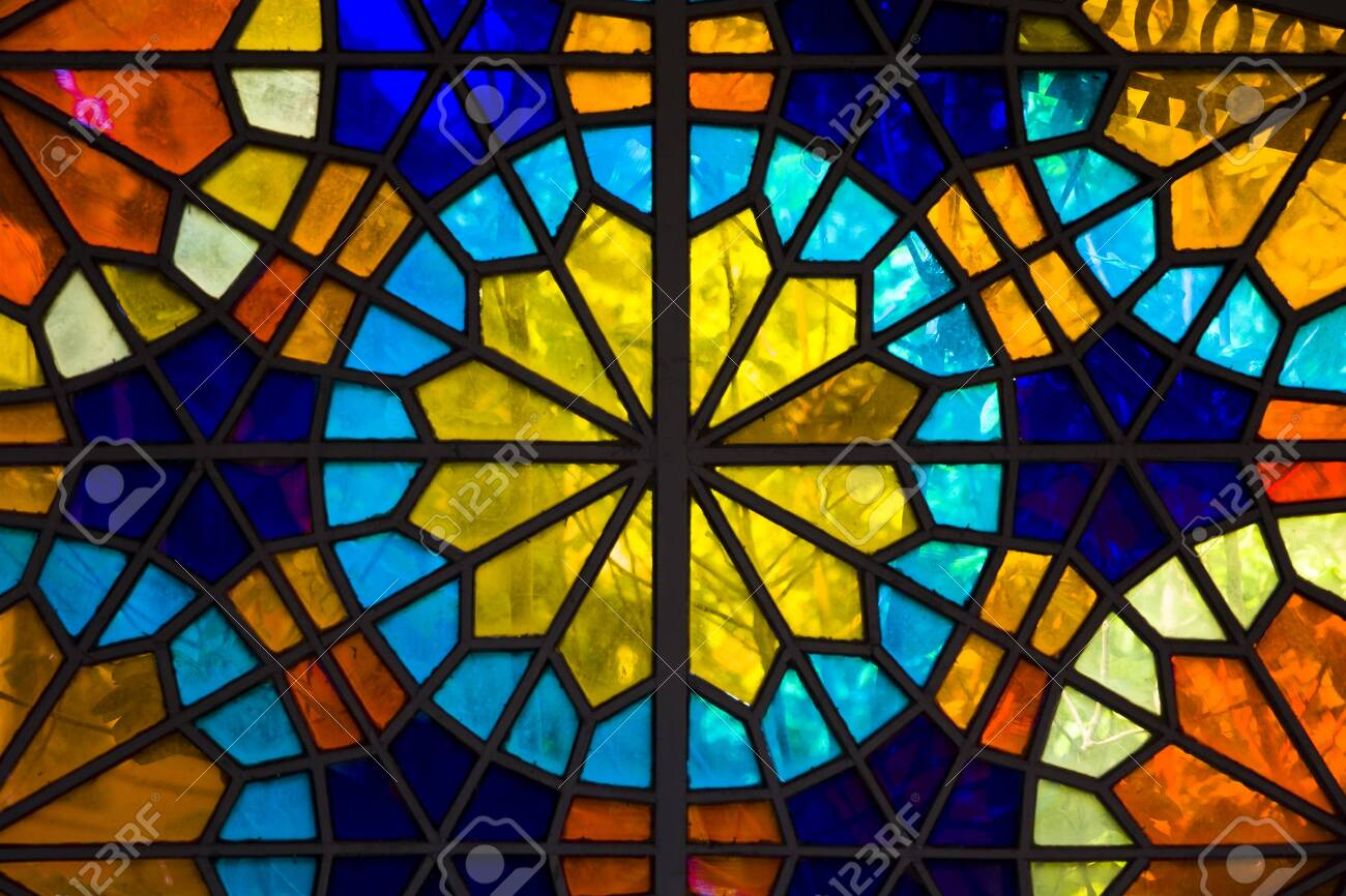 Closeup Detail Of The Colorful Stained Glass Window Stock Photo Picture And Royalty Free Image Image 124567620