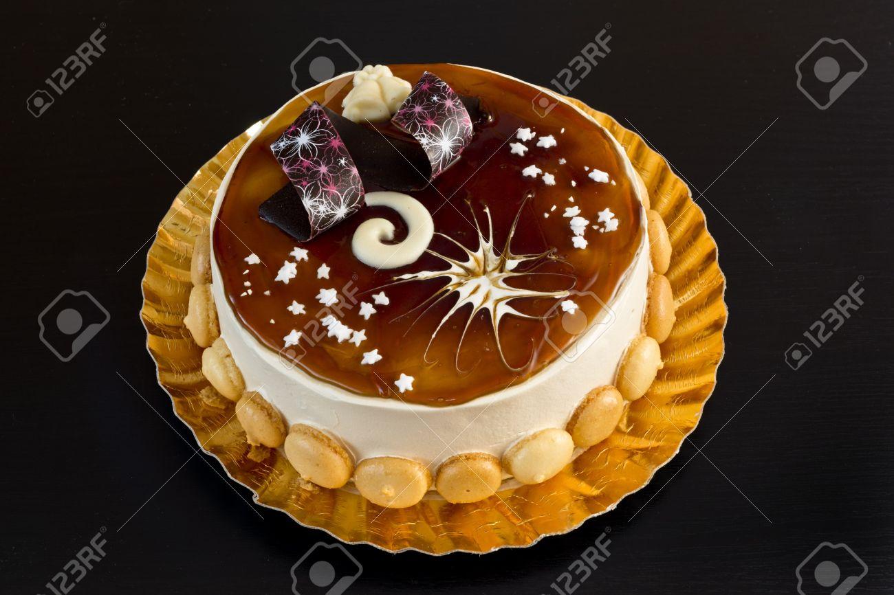 Decorazioni Natalizie X Dolci.Delicious Tiramisu Torta Con Decorazioni Di Dolci Per Natale