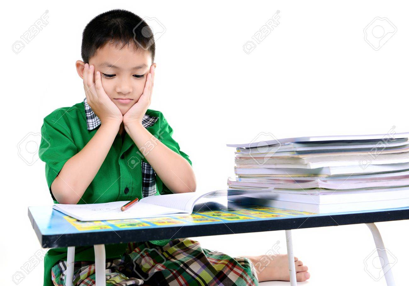 Stock Photography of Tired of homework studying   Student tired of     Bigstock Desk Flip Rage Guy   ALL THIS HOMEWORK  SCREW IT   I M