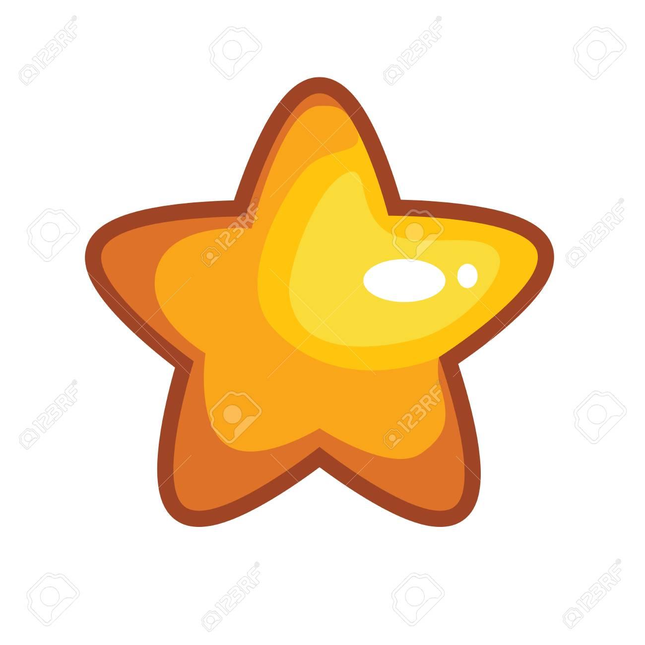 Logo Avec Etoile De Dessin Anime Jaune Illustration Vectorielle Clip Art Libres De Droits Vecteurs Et Illustration Image 85208203