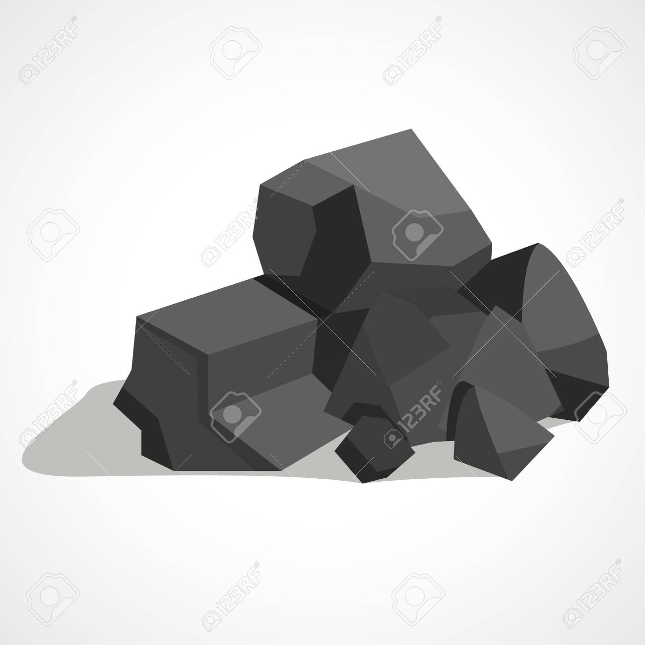 black minerals from the mine coal which is mined in the mine