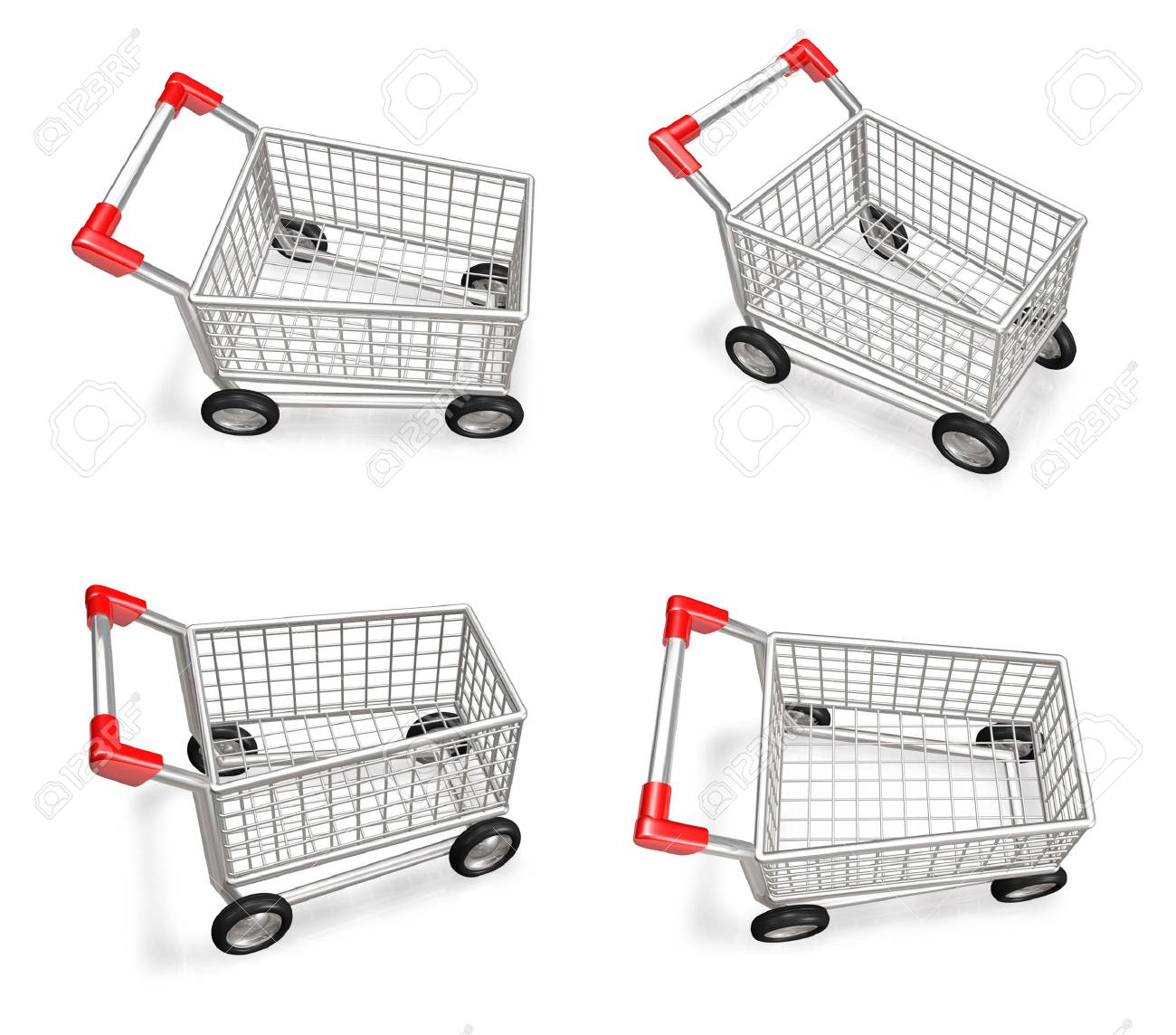 3d shopping cart icon 3d icon design series stock photo picture