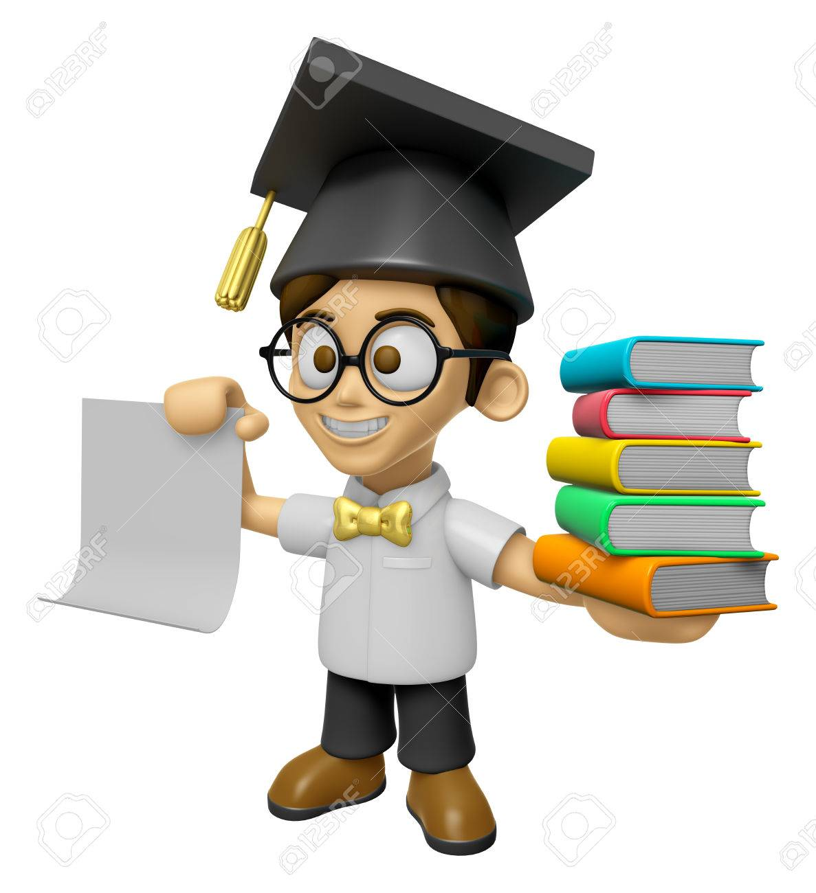 3d scholar man mascot is holding a pile of books work and job 3d scholar man mascot is holding a pile of books work and job character design stopboris Choice Image