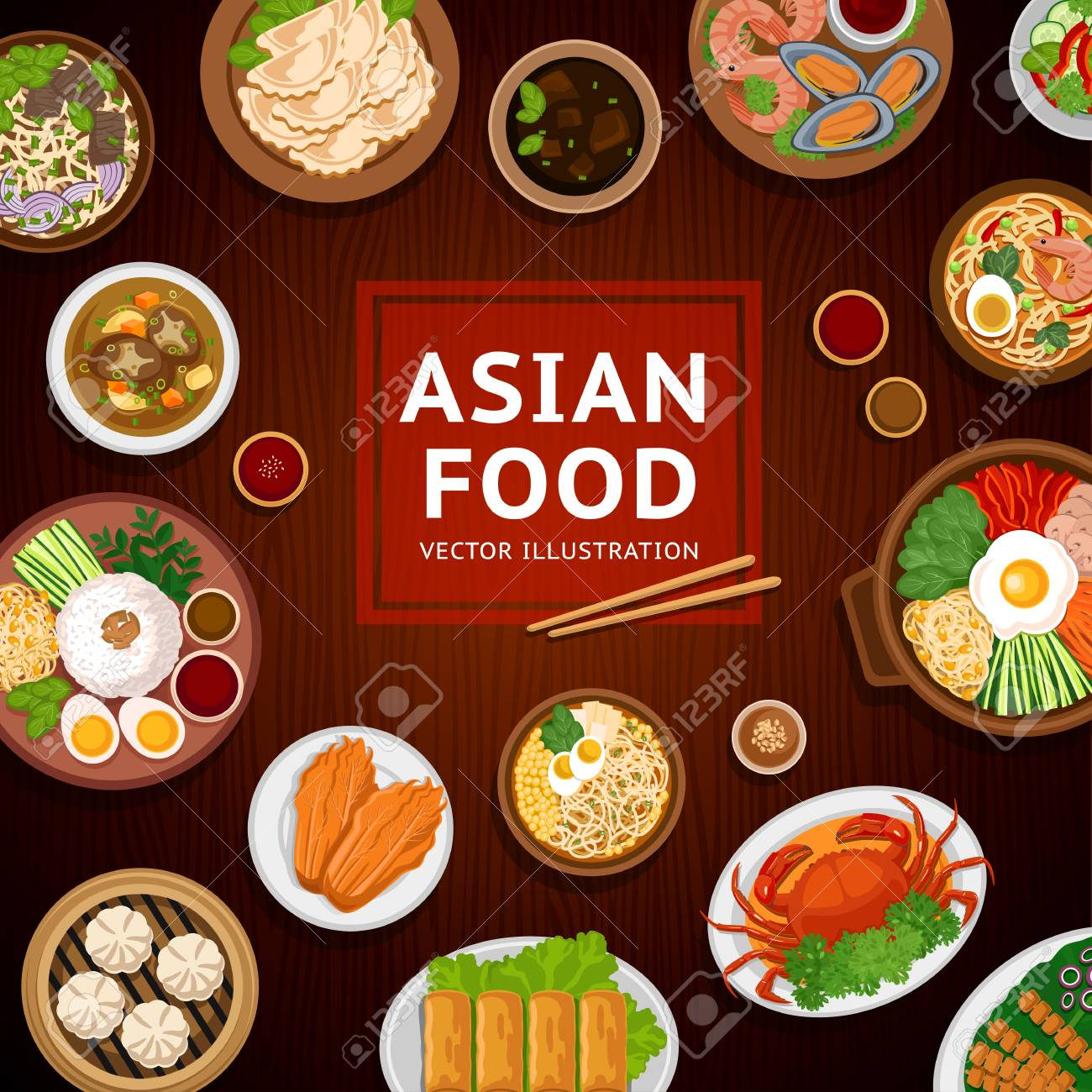 Fresh Asian Cuisine Dishes