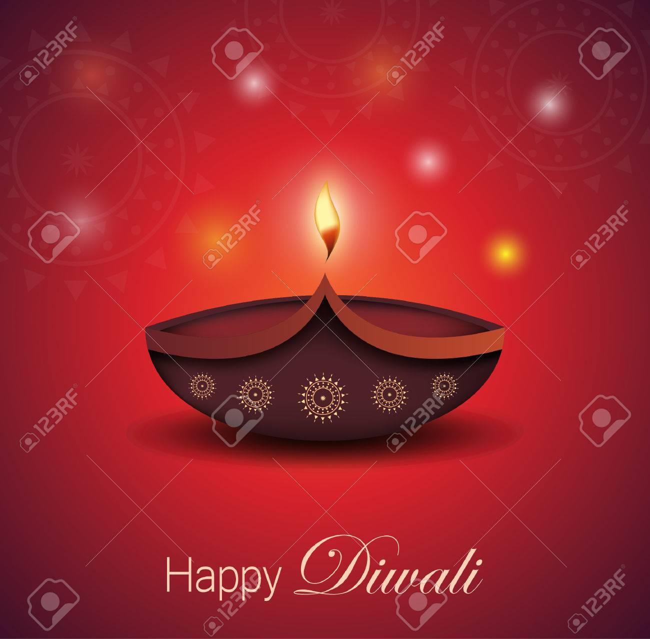 Diwali greeting card burning diya festival of lights vector diwali greeting card burning diya festival of lights vector illustration stock vector m4hsunfo
