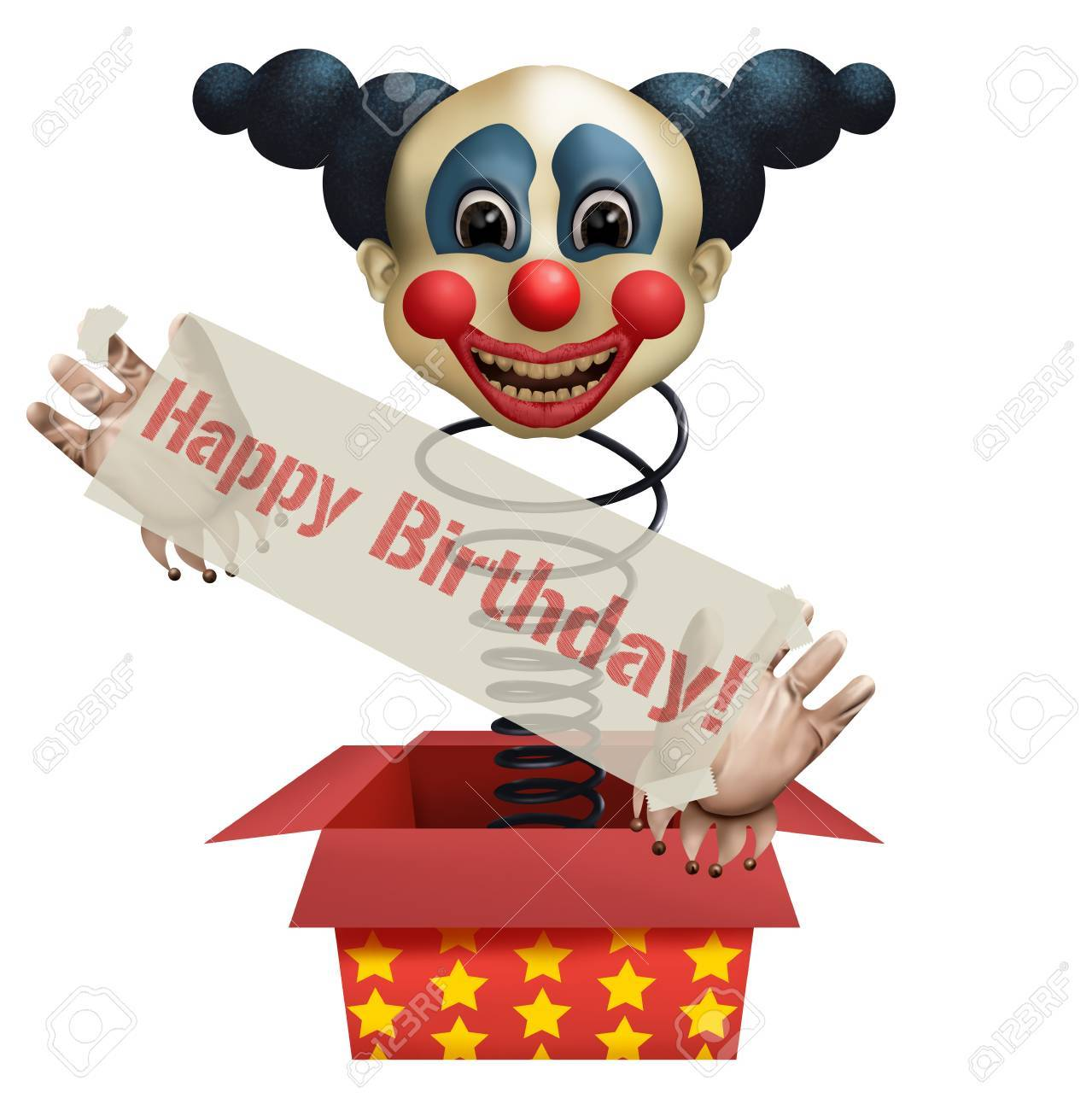 Funny Clown Wish You Happy Birthday Stock Photo Picture And Royalty Free Image Image 70195816