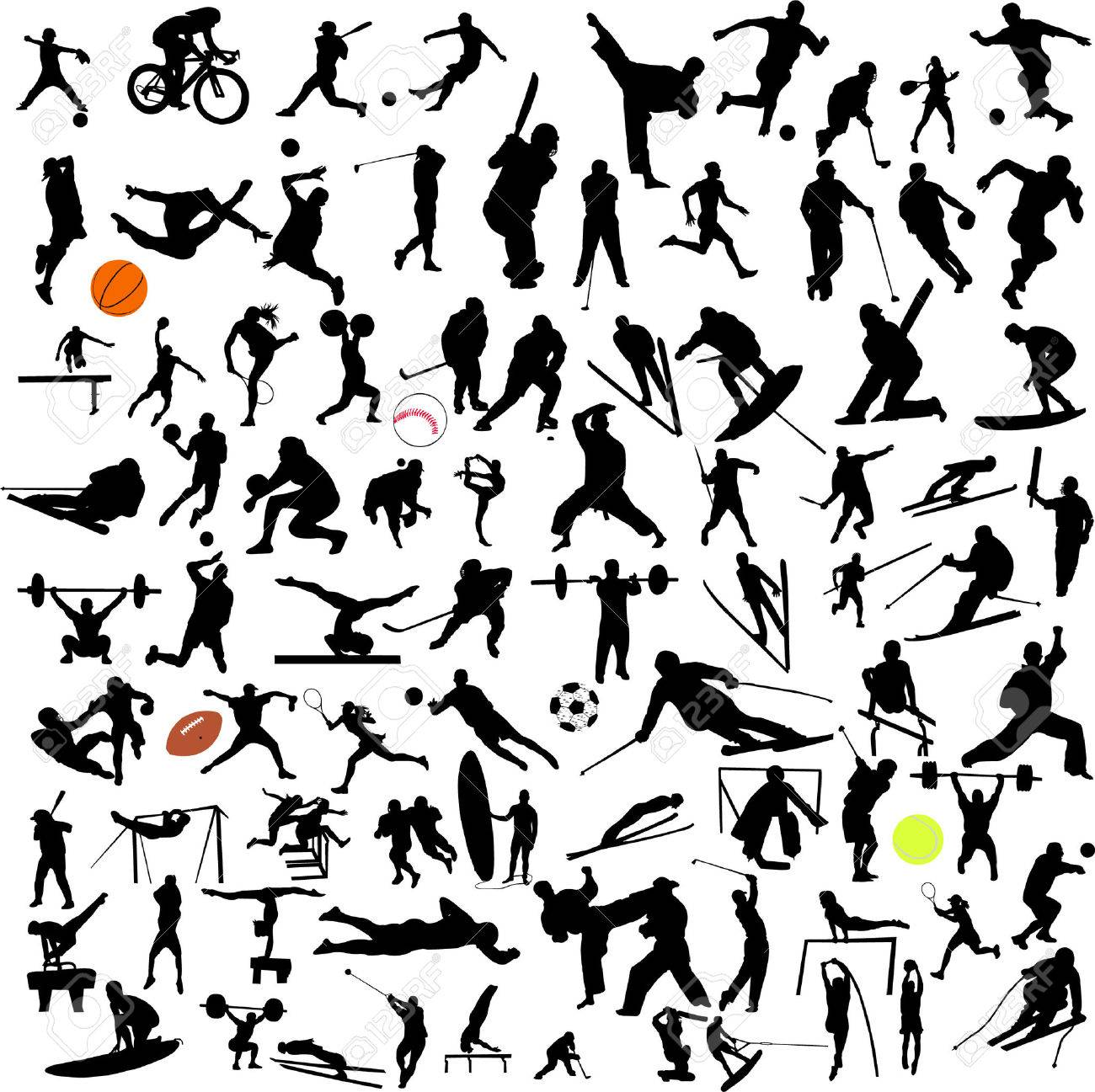 sport big collection - vector Stock Vector - 5689936