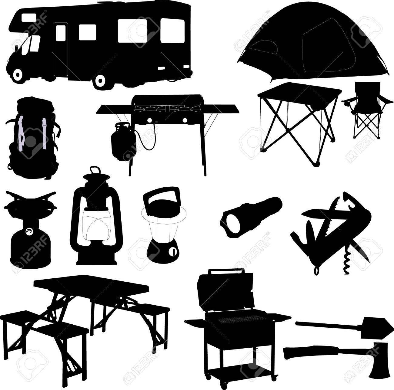 Camping Equipment Stock Vector