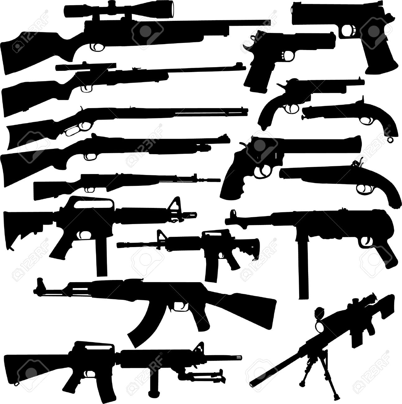 weapon collection - vector Stock Vector - 5937095