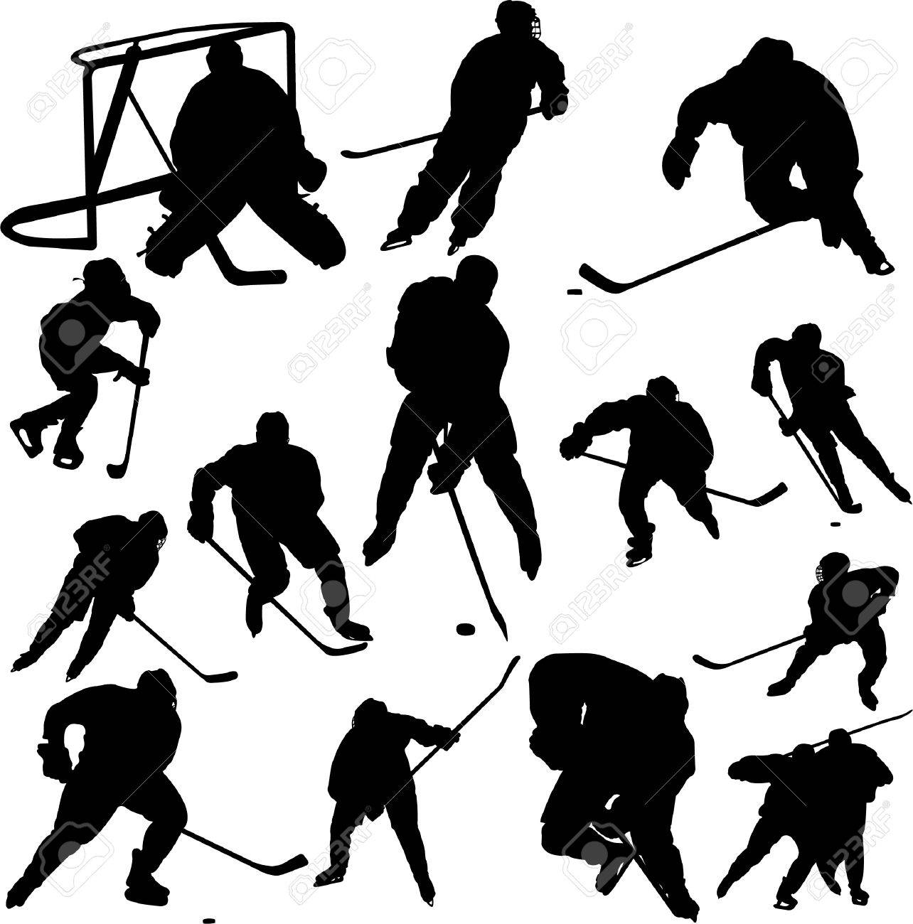 collection of hockey vector Stock Vector - 6203803