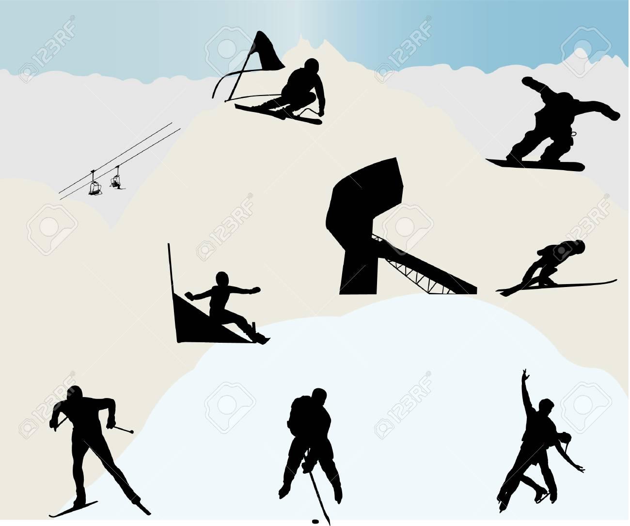 Winter sports Stock Vector - 6439287