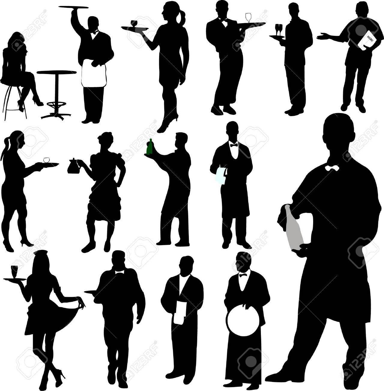 waiters and waitresses  Waiters And Waitresses Clipart