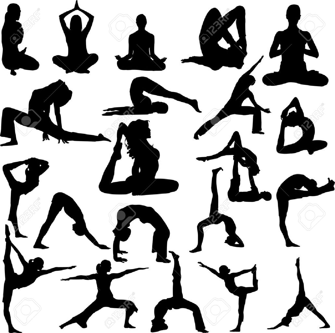 Yoga Vector Royalty Free Cliparts, Vectors, And Stock Illustration ...
