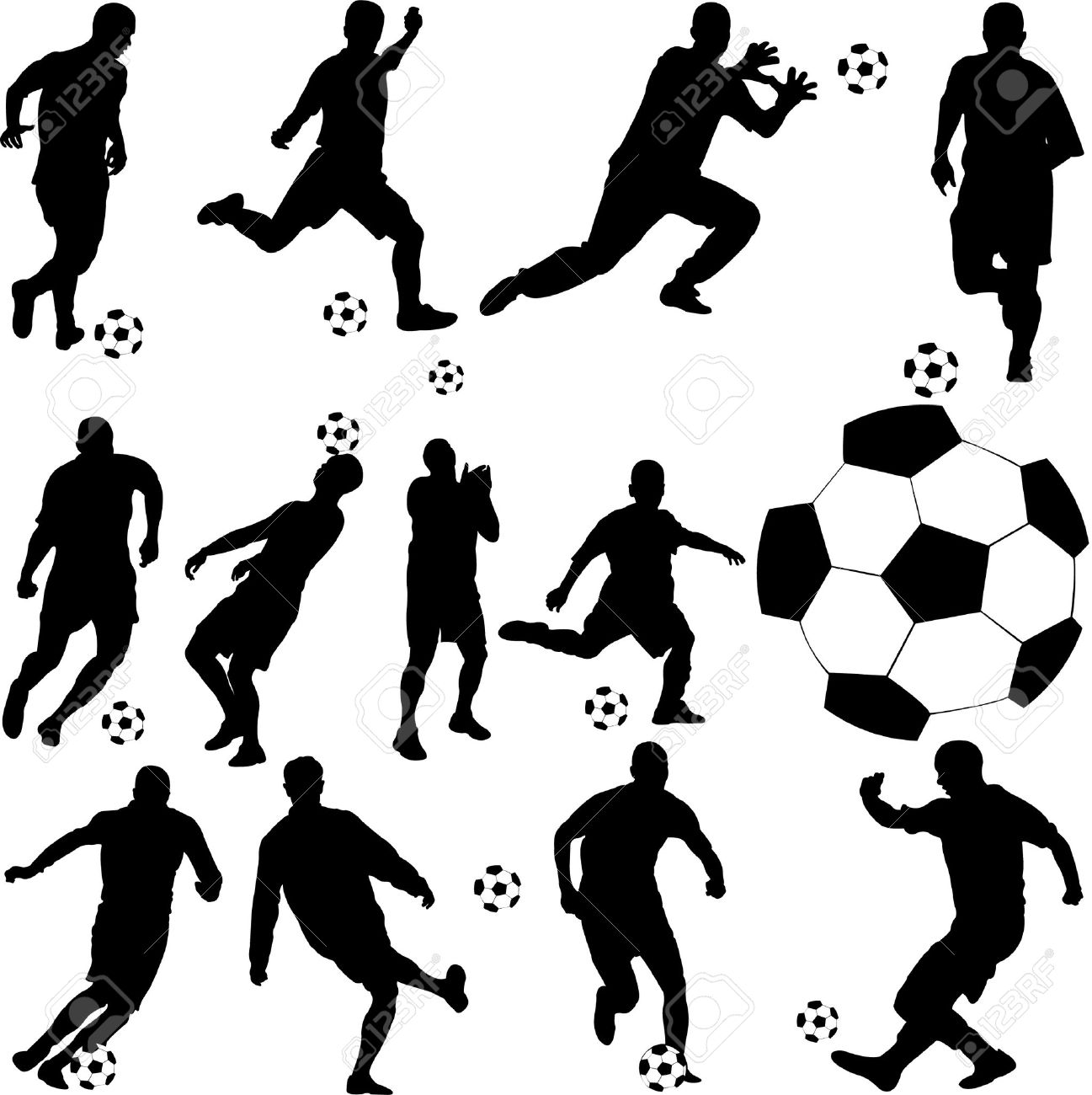 soccer player vector Stock Vector - 8285947