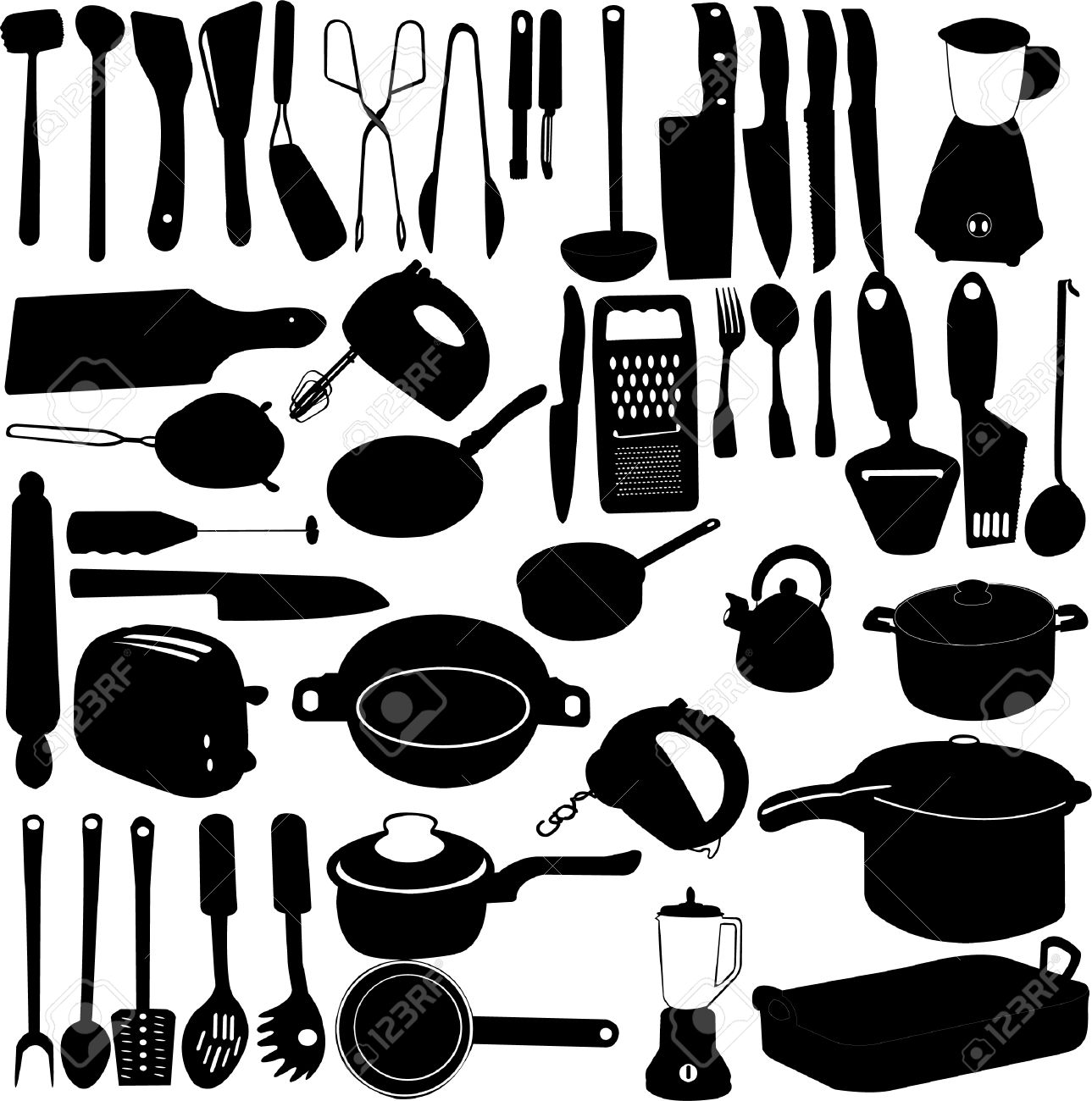 kitchen tools collection Stock Vector - 9054143