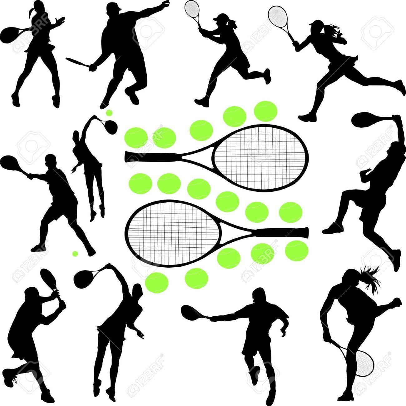 tennis collection 1 - vector Stock Vector - 12494635