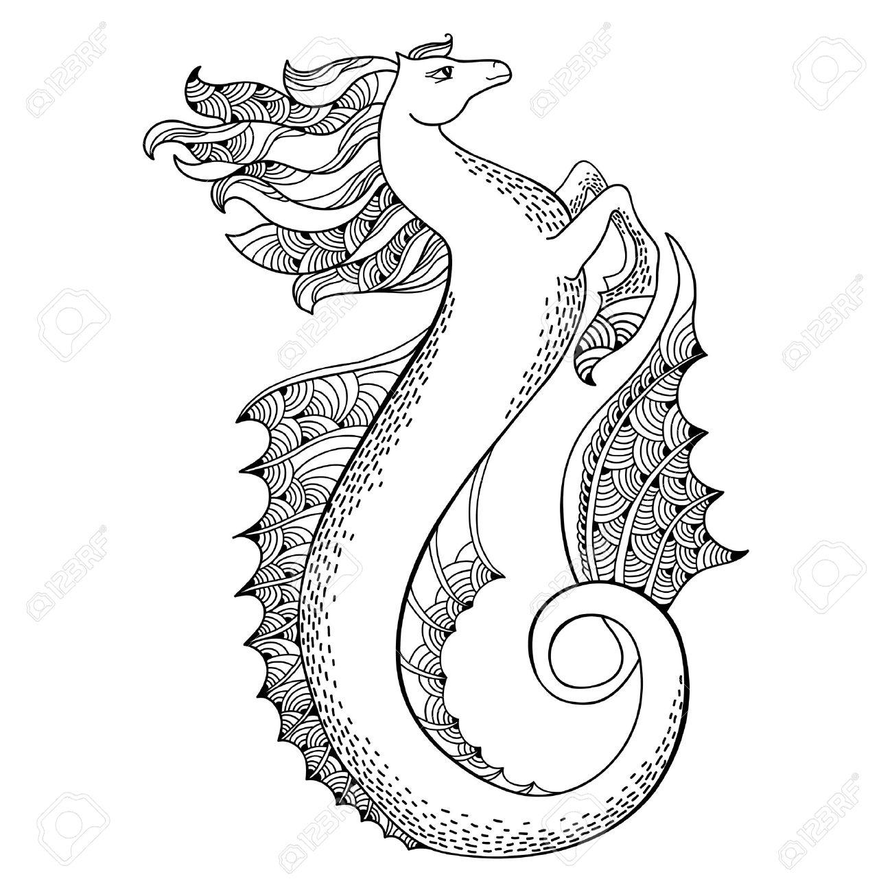 mythological hippocampus legendary sea horse the series of