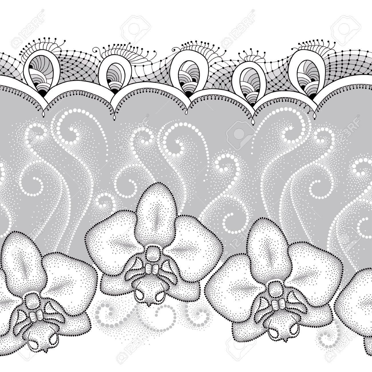 Sin Patrón, Con La Orquídea Phalaenopsis O Polilla De Puntos ...