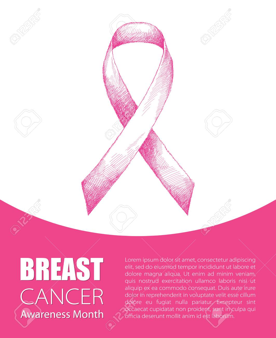 Vector illustration with pink ribbon isolated on white background vector illustration with pink ribbon isolated on white background breast cancer awareness month symbol biocorpaavc Choice Image