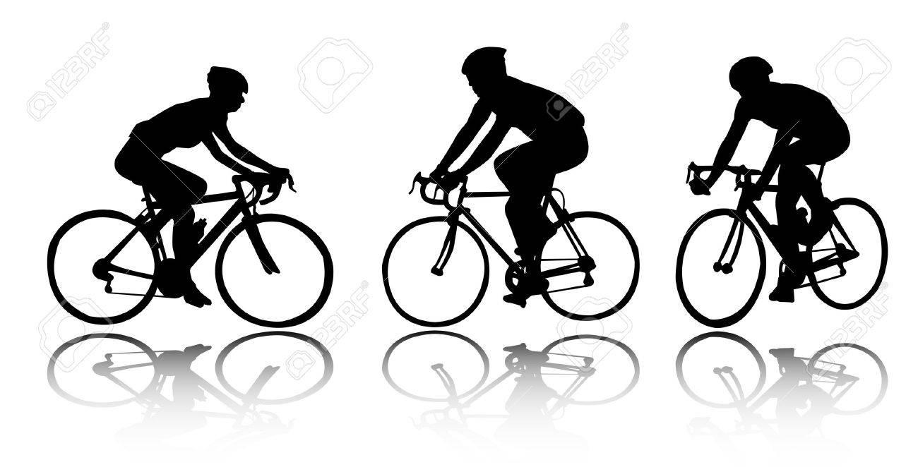 bicyclists - vector - 4711679