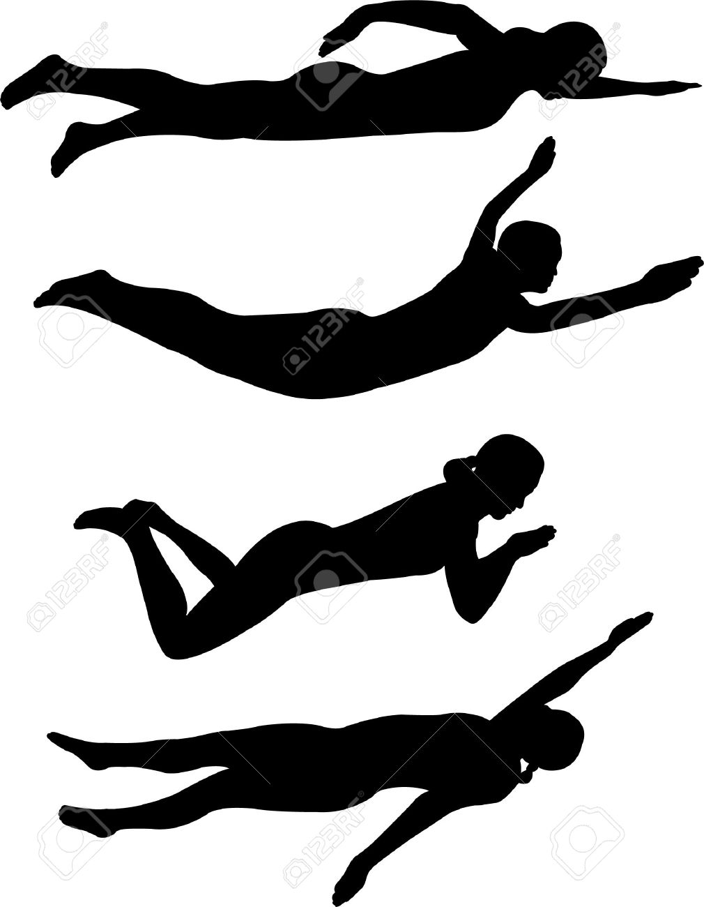 swimming styles Stock Vector - 6576069