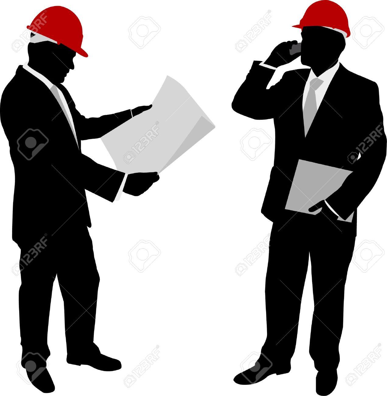 businessmen with hard hat - vector - 11663883