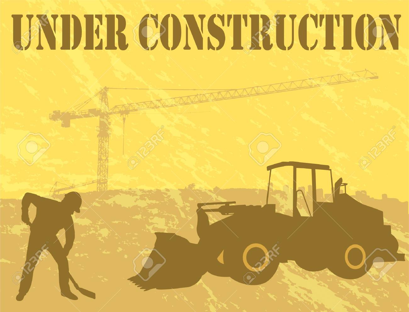 under construction background Stock Vector - 11999793