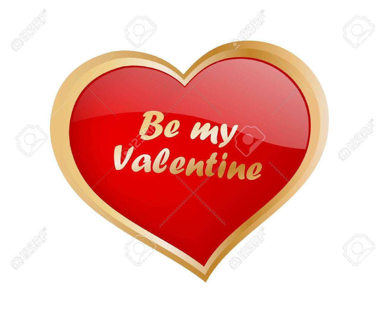be my valentine Stock Vector - 12035732