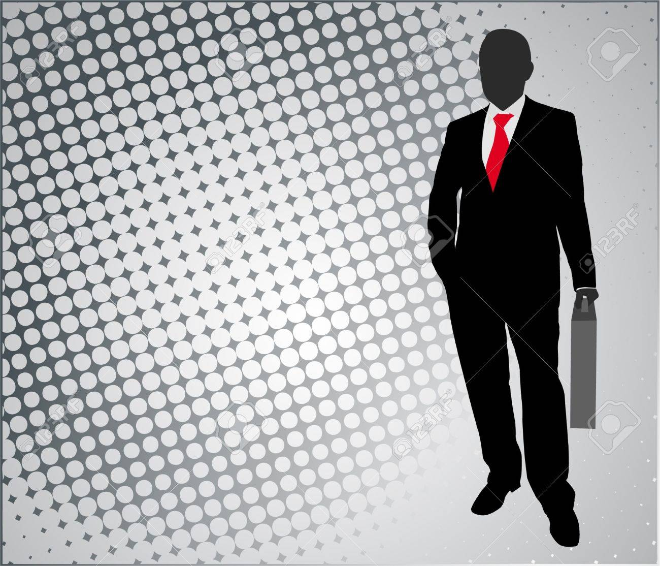 businessman on the abstract background - vector - 13361926