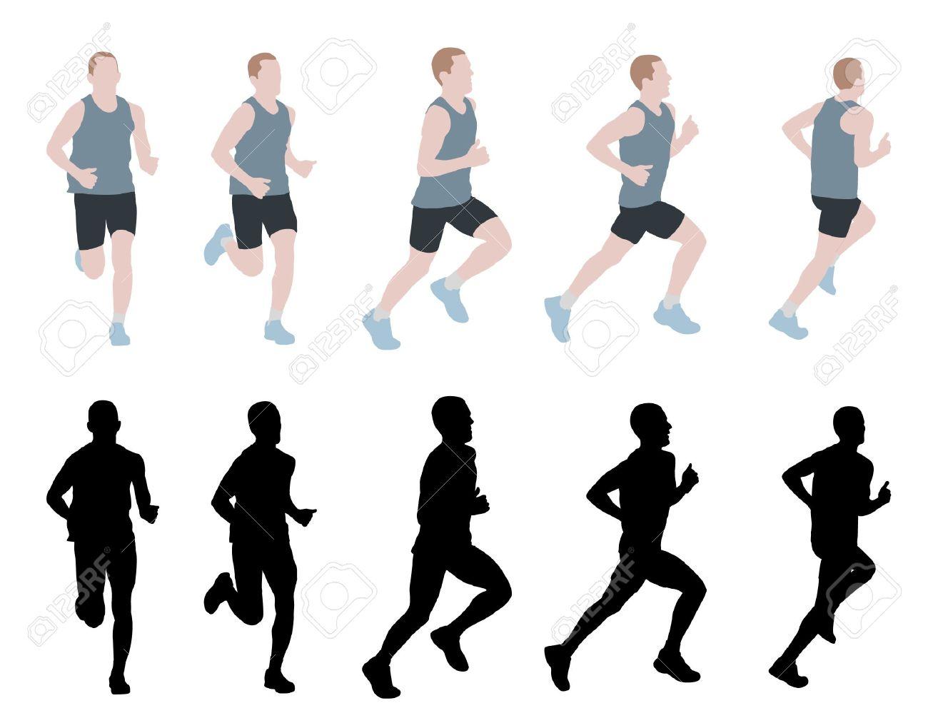 marathon runner - vector - 13331465