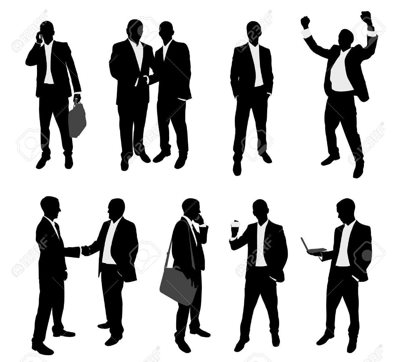 business people silhouettes collection - 17626174