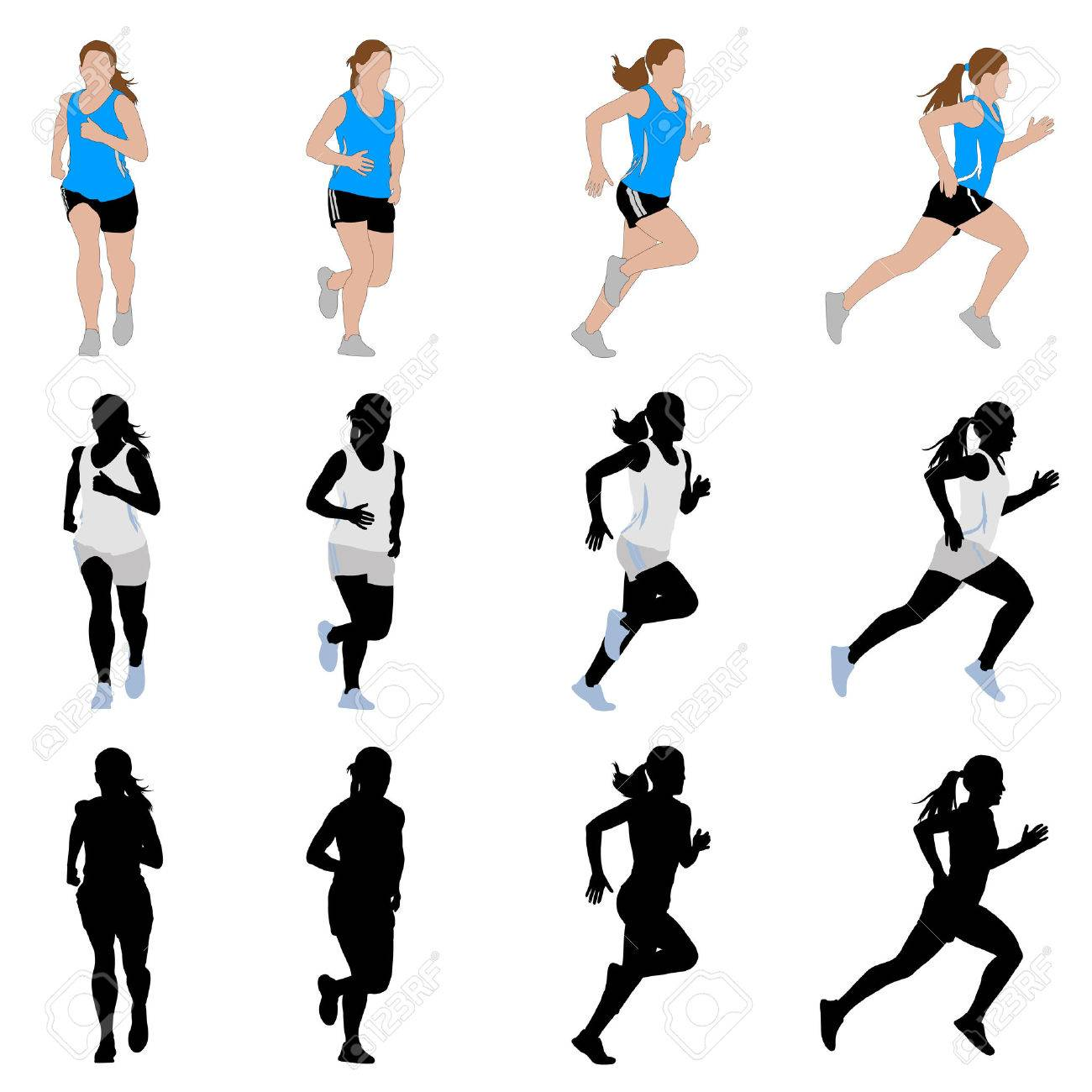 female runner vector royalty free cliparts vectors and stock illustration image 41389361 female runner vector