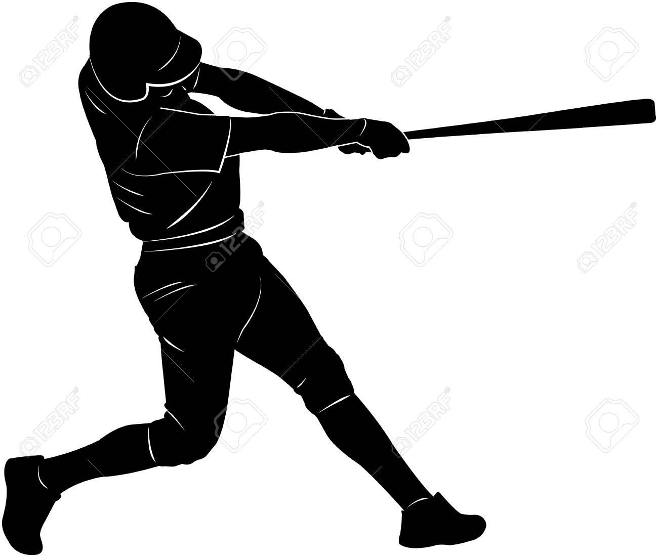 baseball player silhouette vector royalty free cliparts vectors rh 123rf com baseball player victor martinez basketball player victor jackson