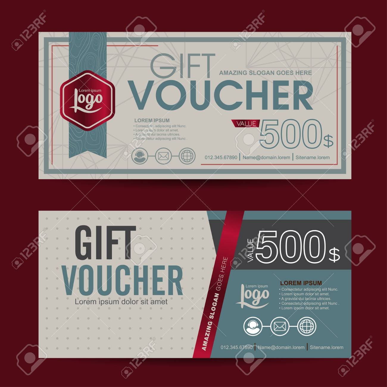 Gift voucher template with colorful patterncute gift voucher gift voucher template with colorful patterncute gift voucher certificate coupon design template collection yelopaper Image collections