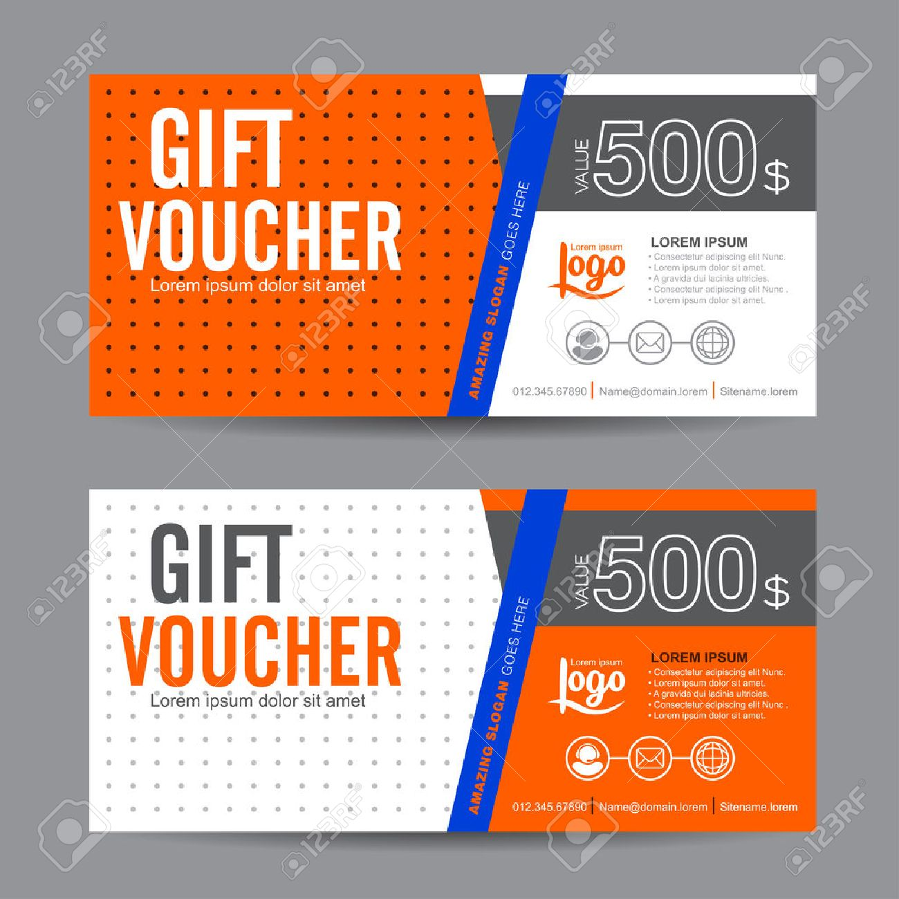 Gift Voucher Template With Colorful Patterncute Gift Voucher – Voucher Certificate Template