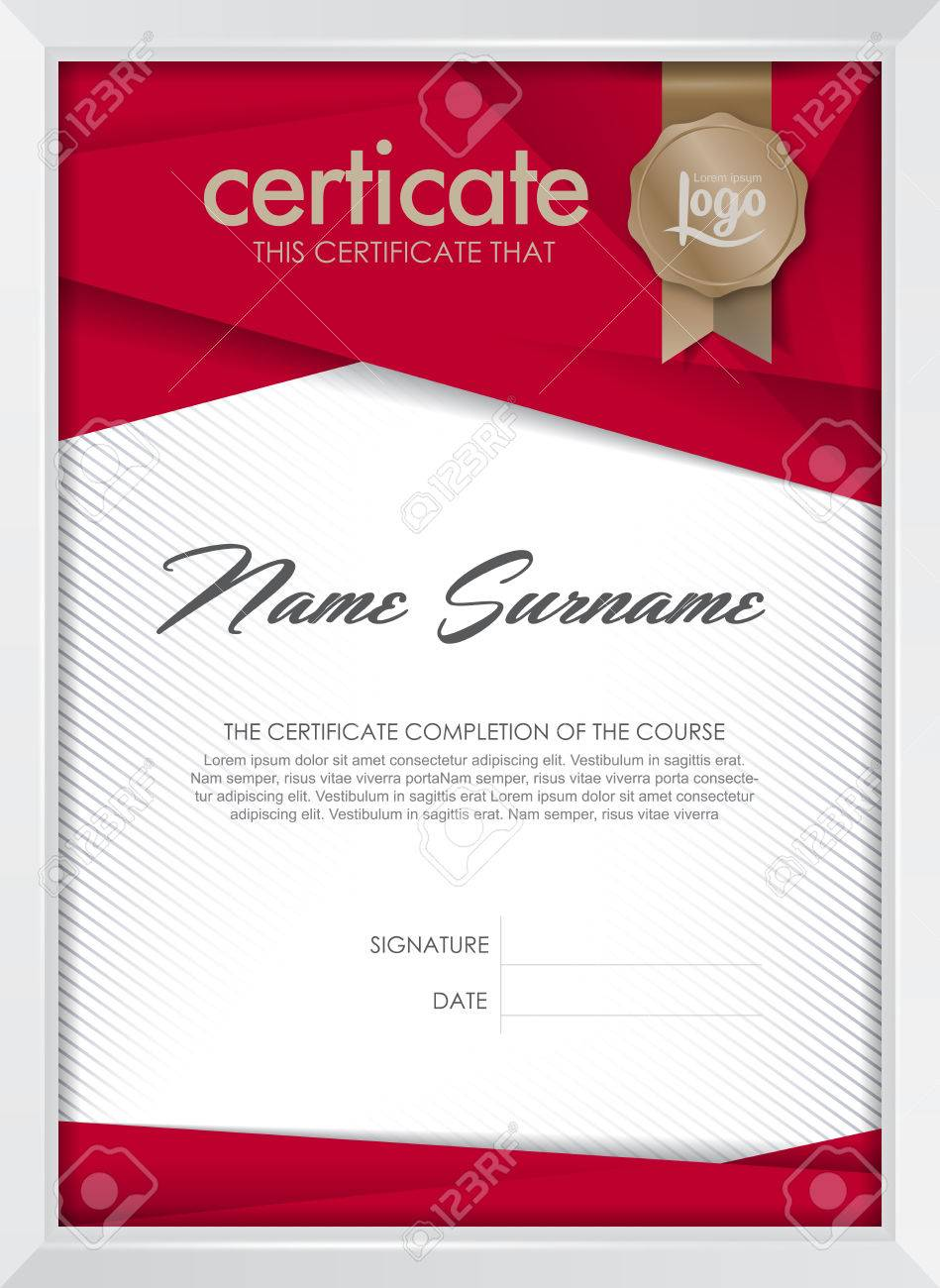Certificate Template With Clean And Modern Pattern, Luxury Golden ...