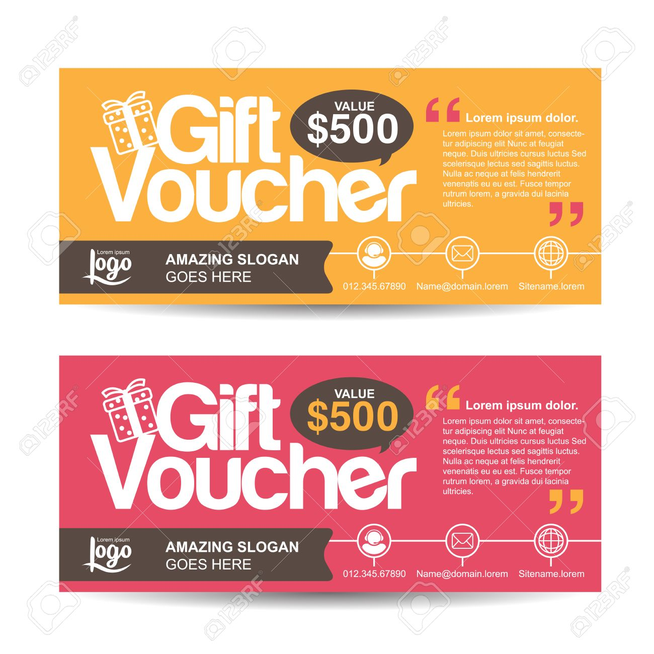 Gift Voucher Template With Colorful Patterncute Gift Voucher – Present Voucher Template