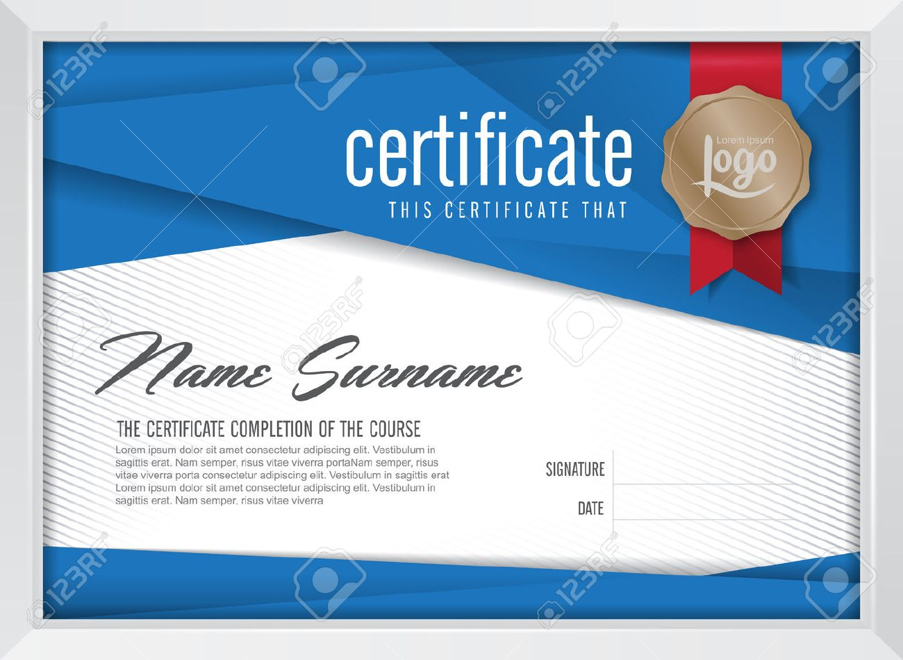 Certificate template modern gallery certificate design and template certificate template with clean and modern patternvector xflitez Images