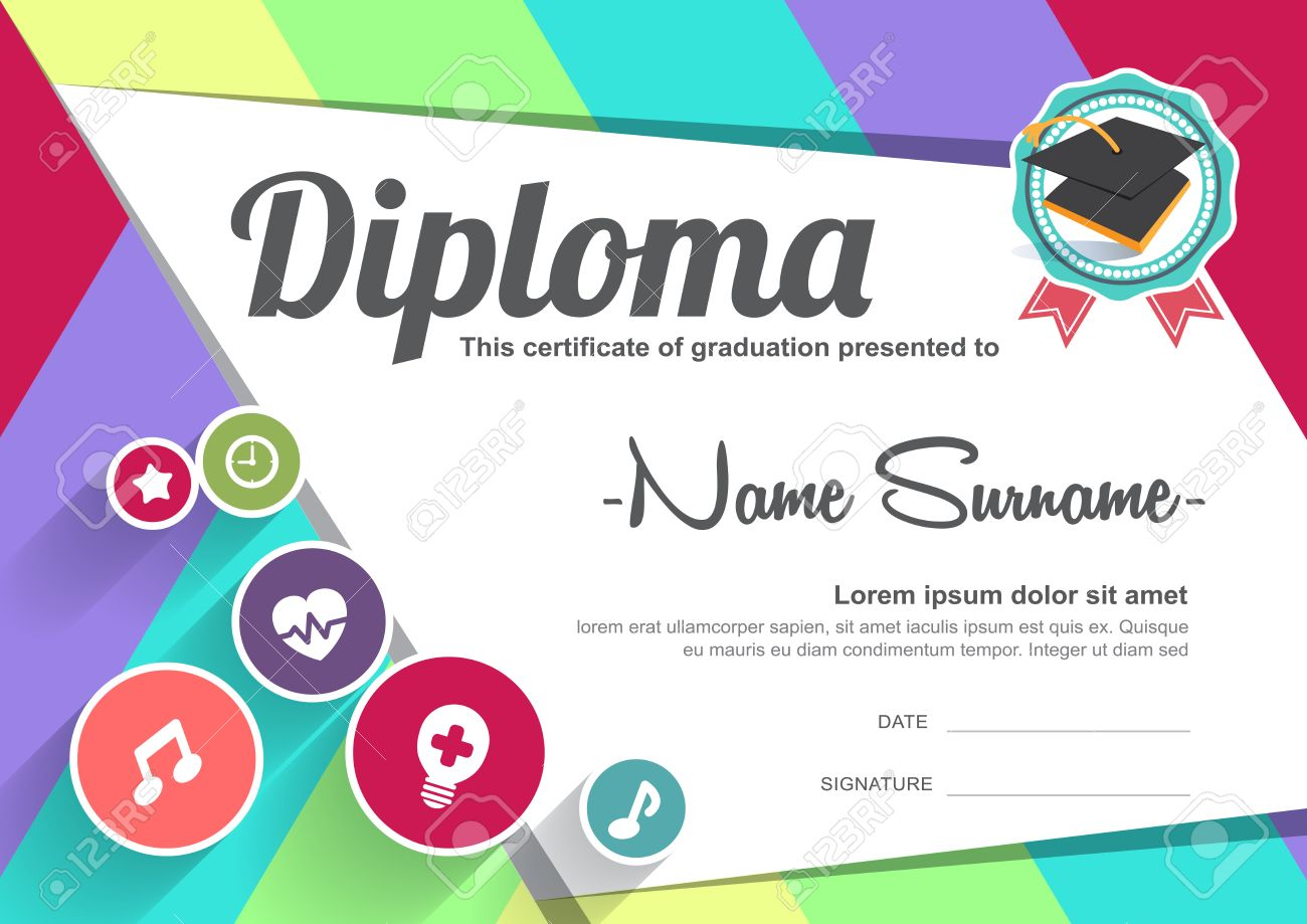Preschool kids diploma certificate background design template preschool kids diploma certificate background design template stock vector 47197183 yelopaper Gallery