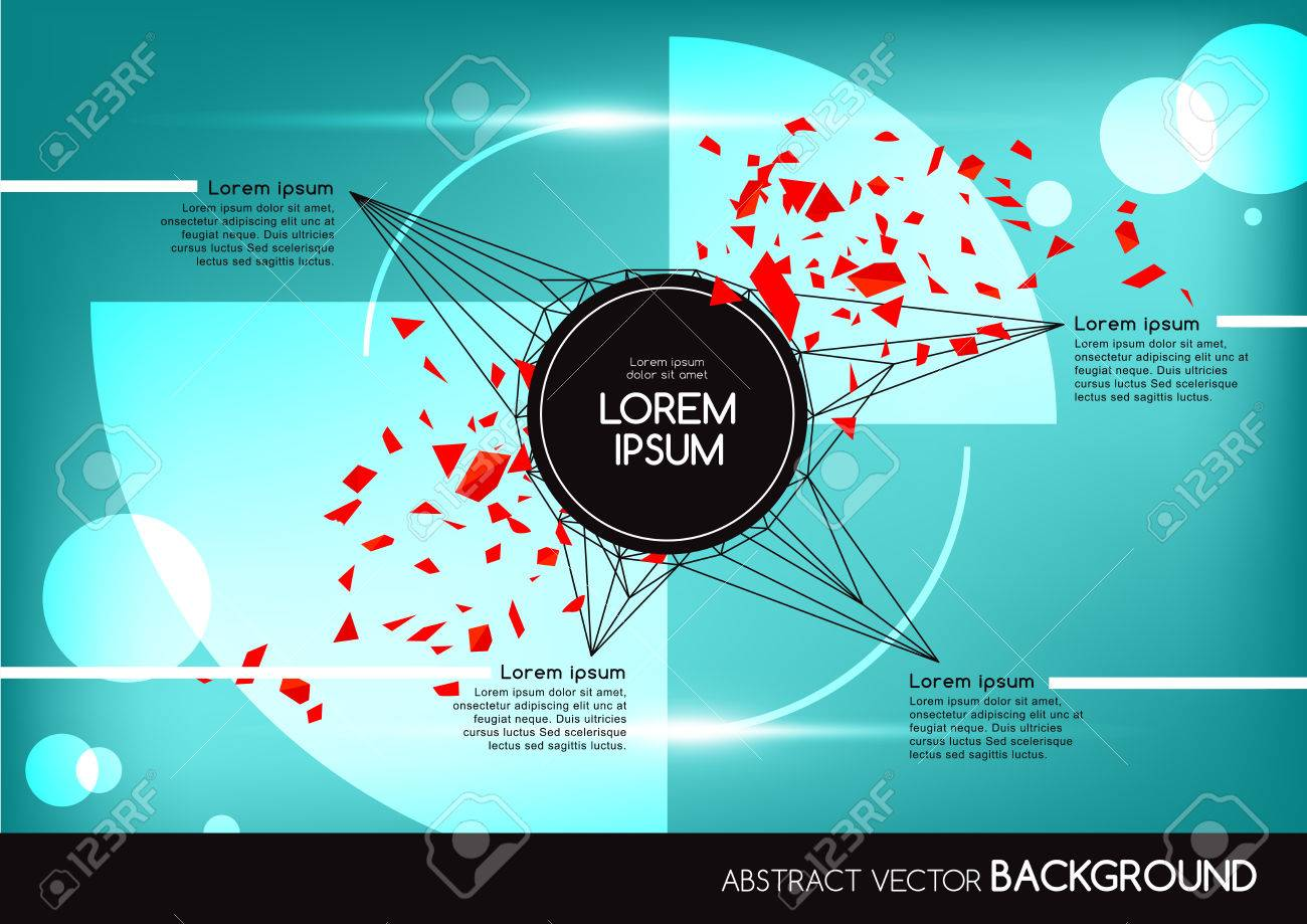 Pics photos 3d colorful abstract background design - 3d Abstract Background With Colorful Network And Geometric Shapes Vector Design Layout For Business Presentations