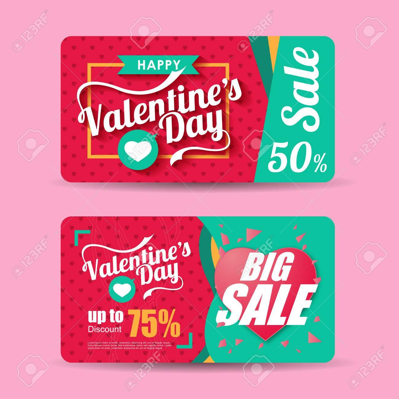 Valentines Day Sale Inscription Design Template. Valentines Day ...