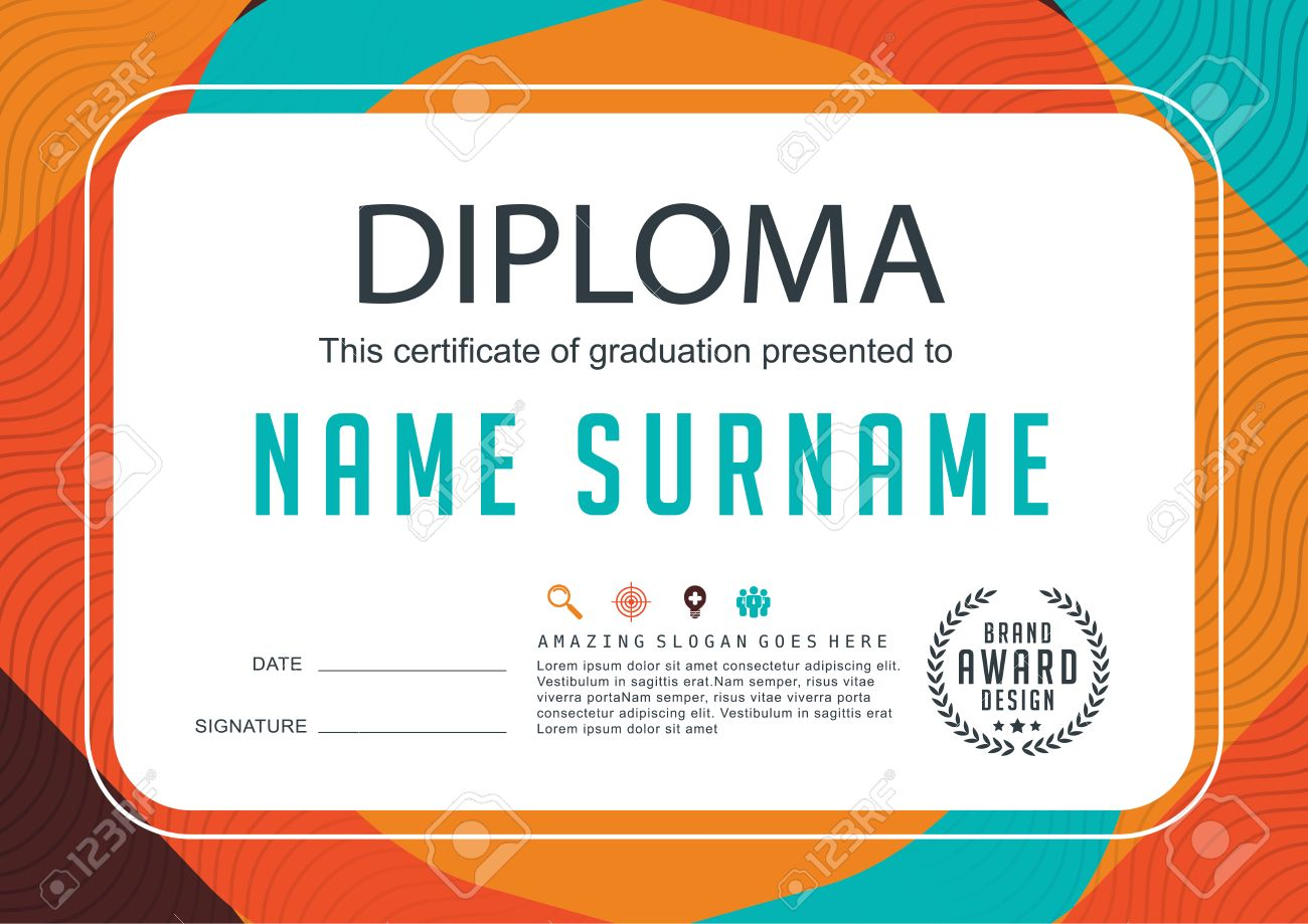 Preschool kids diploma certificate background design template preschool kids diploma certificate background design template stock vector 52888947 xflitez Images