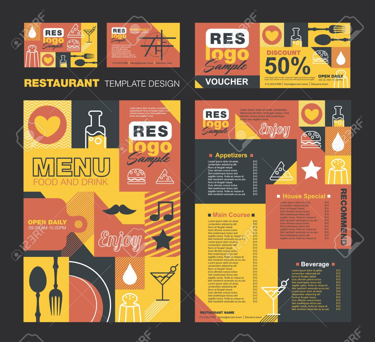 business menu template