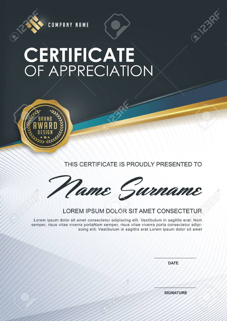 Certificate Template With Luxury And Modern Patternxaqualification