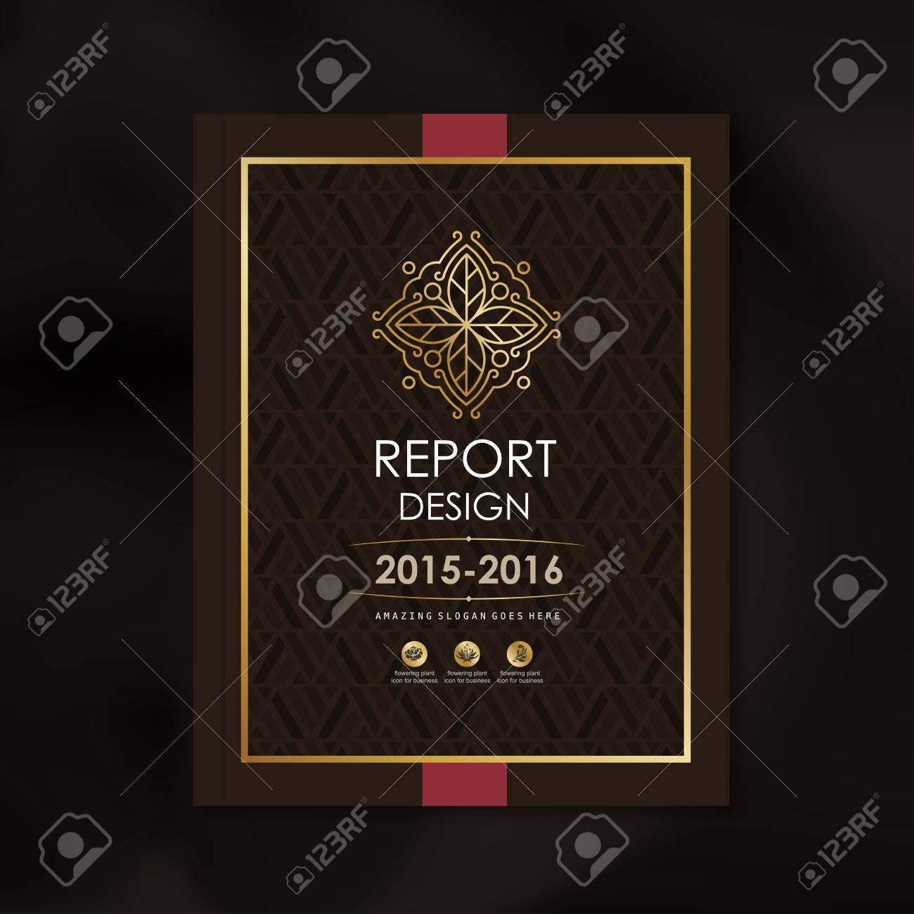 Modern Vector design template with luxury golden shape pattern background design for corporate business annual report book cover brochure poster,vector illustration - 53687649