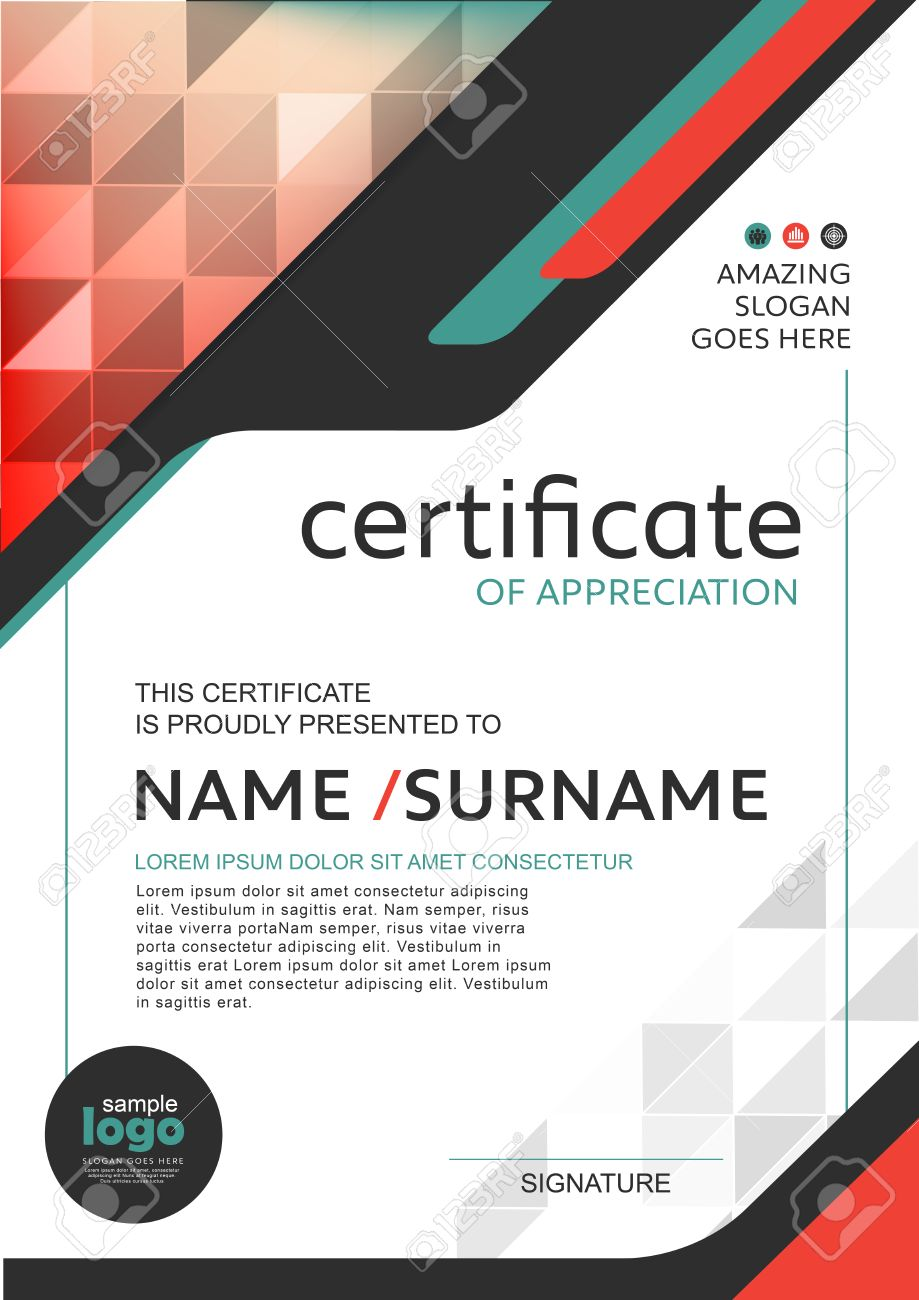 Certificate Template With Luxury And Modern Pattern, Qualification ...