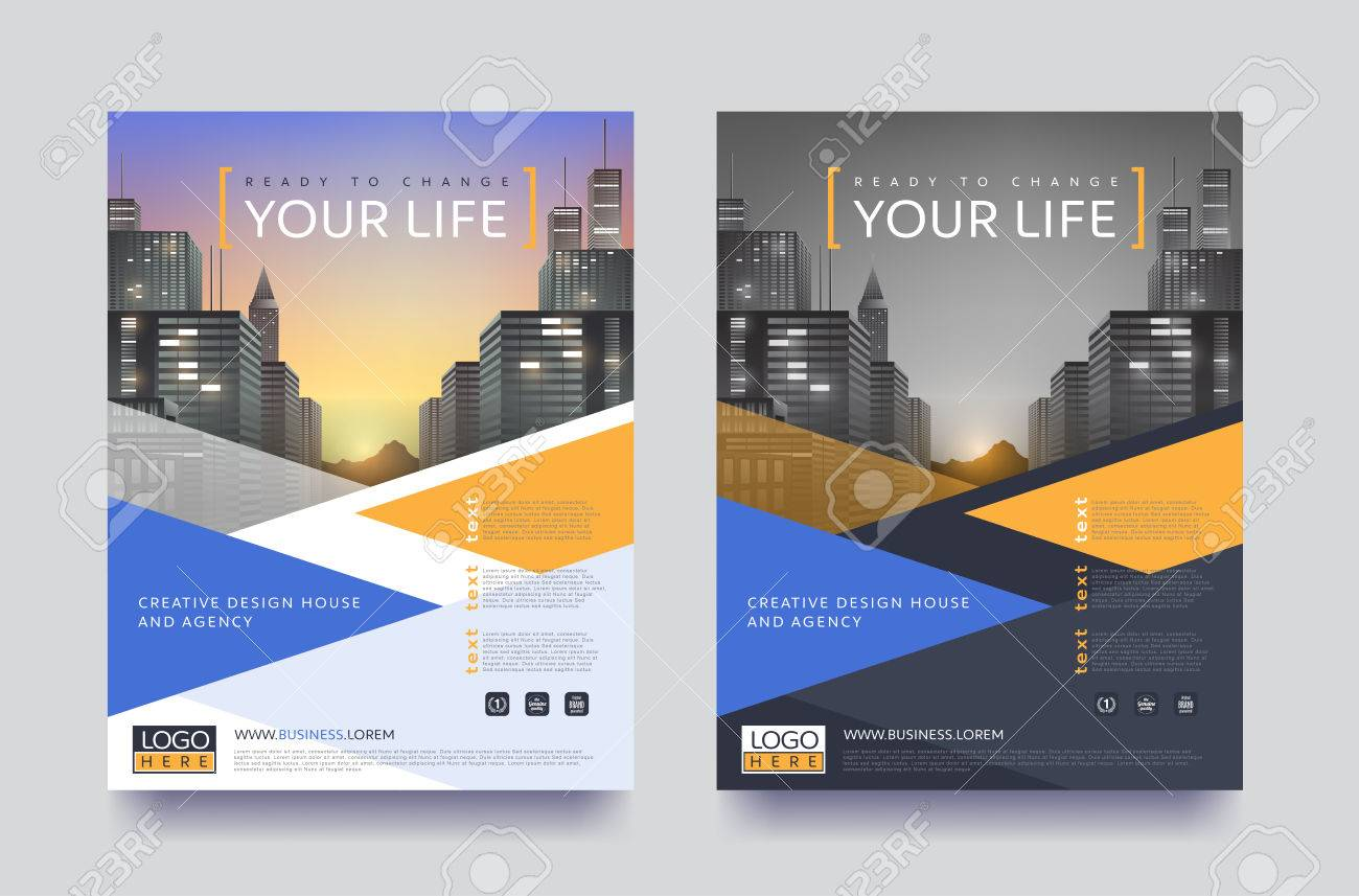 poster flyer pamphlet brochure cover design layout space for photo design vector template in a4