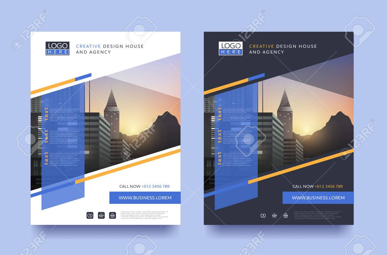 Poster Flyer Pamphlet Brochure Cover Design Layout Space For Photo Design,  Vector Template In A4  Pamphlet Layout Template