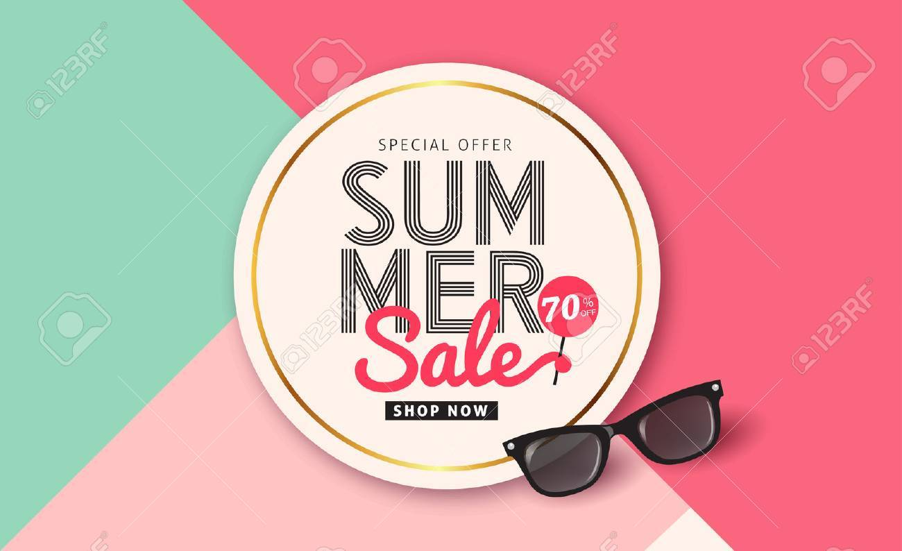 Summer sale pattern layout for banners,Wallpaper,flyers, invitation, posters, brochure, voucher discount.Vector illustration template. - 74216992